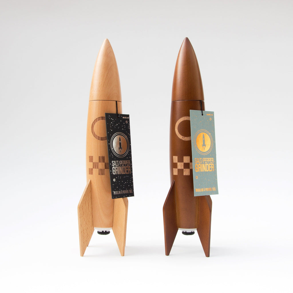 SUCK UK Rocket Salt & Pepper Mill: Natural