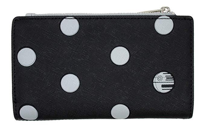 LOUNGEFLY x Star Wars Polka Dot Death Star Patterned Wallet