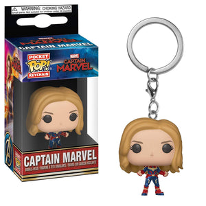 Pop! Keychain Marvel: Captain Marvel - Unmasked