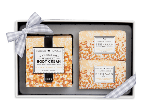 BEEKMAN Honey & Orange Blossom Soap And Whipped Body Cream Set