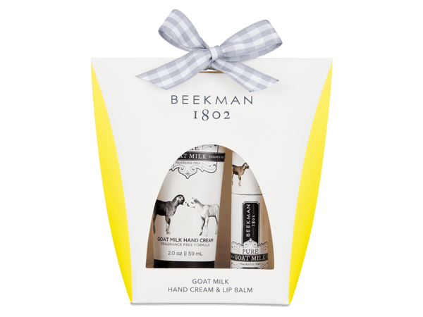 BEEKMAN Pure Goat Milk Hand & Lip Hydration Set