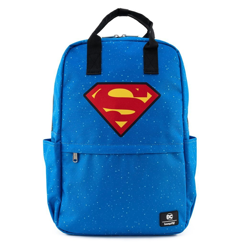 LOUNGEFLY DC Comics Superman Square Nylon Backpack