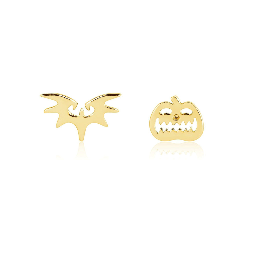 COUTURE KINGDOM - Disney Nightmare Before Christmas Pumpkin and Bat Mix-Match Stud Earrings