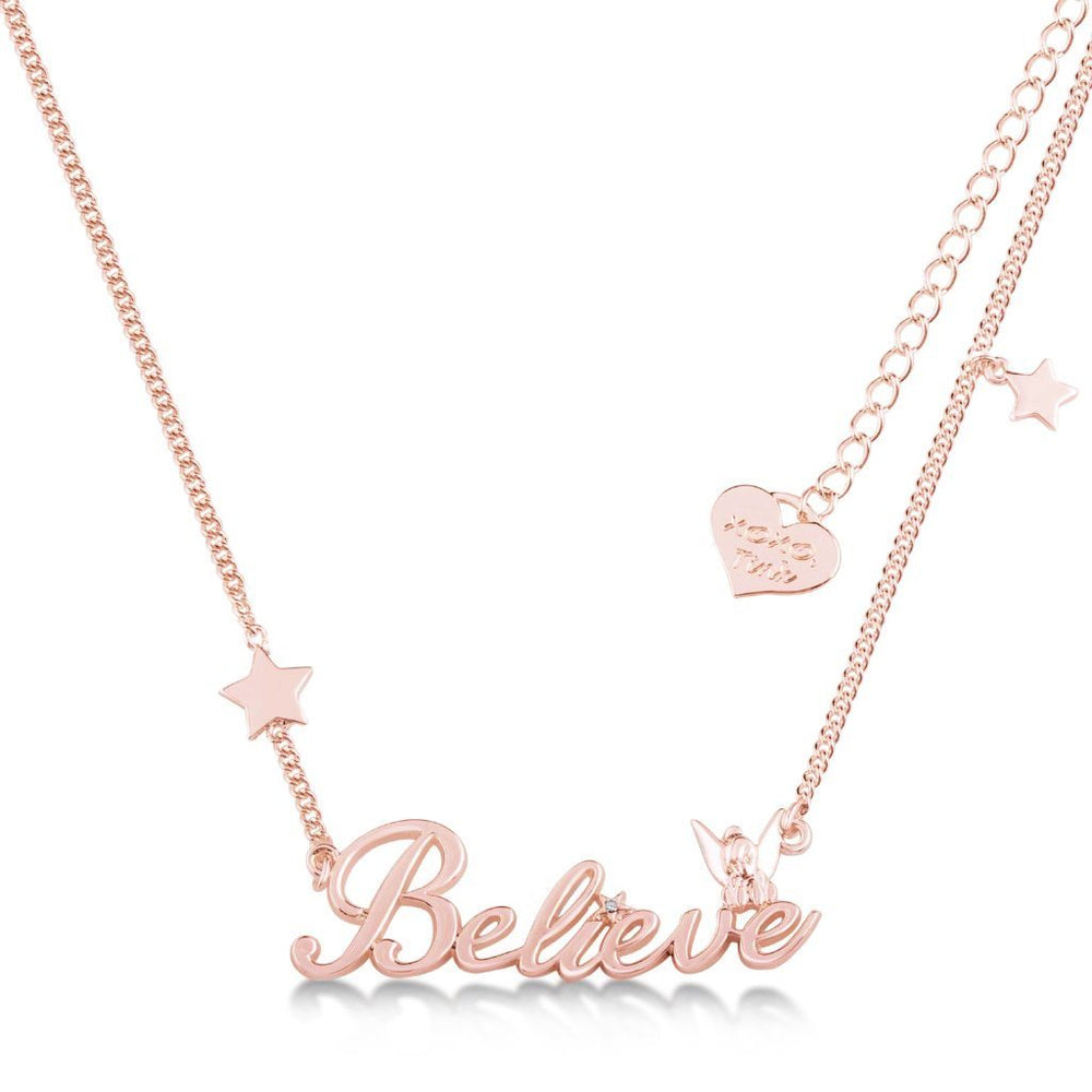 COUTURE KINGDOM x Disney Tinkerbell Believe Nameplate Necklace