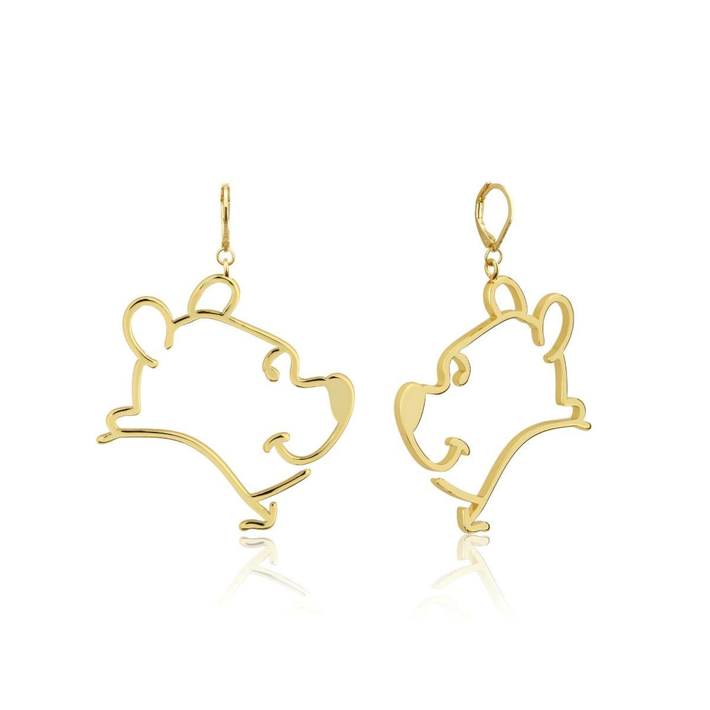 COUTURE KINGDOM - Disney Winnie The Pooh Outline Drop Earrings