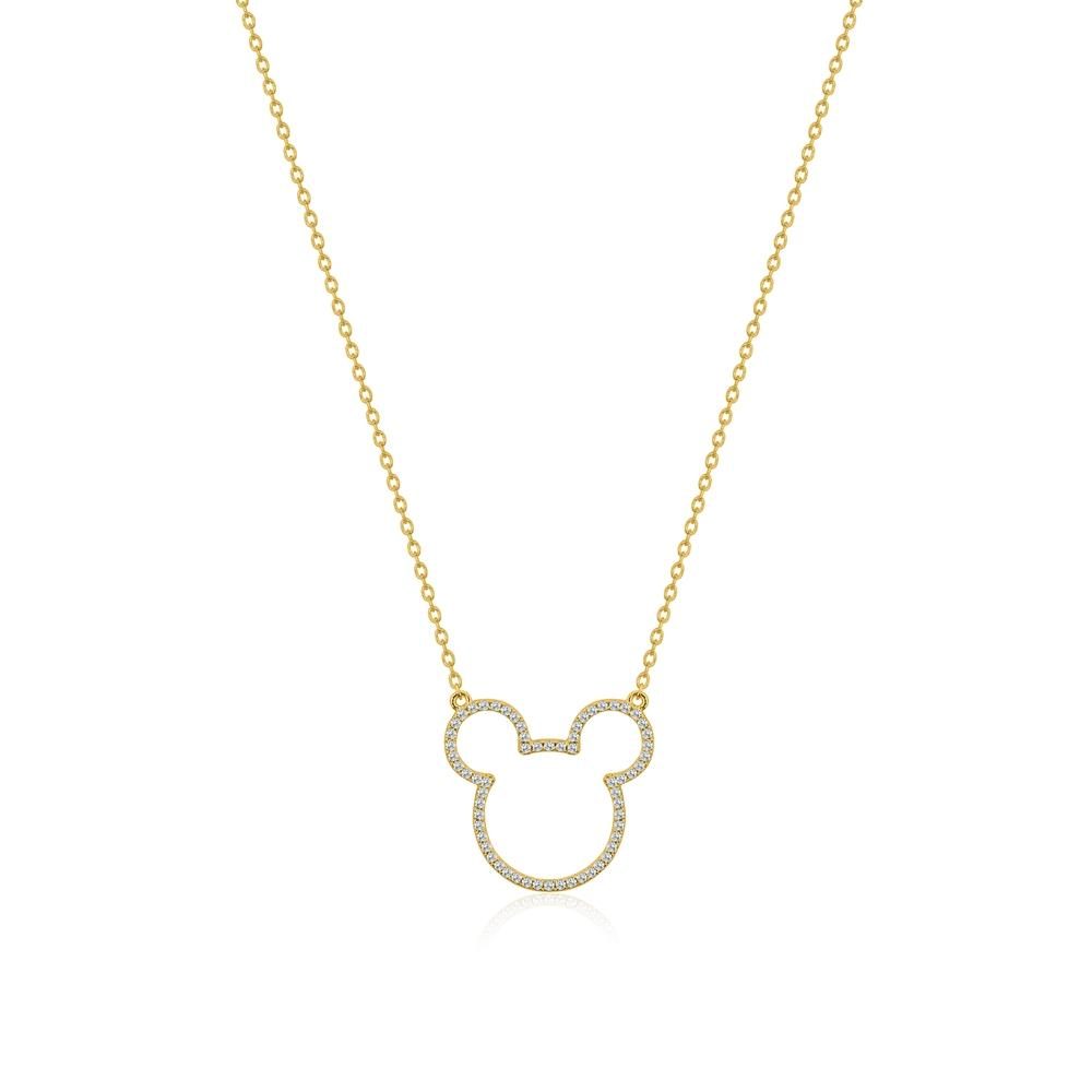 COUTURE KINGDOM x Disney Mickey Mouse Sterling Silver Crystal Outline Necklace