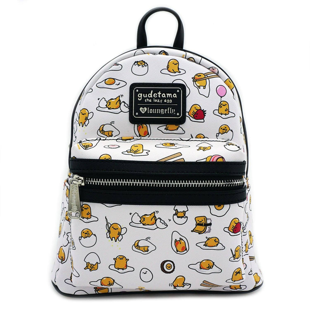 LOUNGEFLY Gudetama AOP Mini Backpack