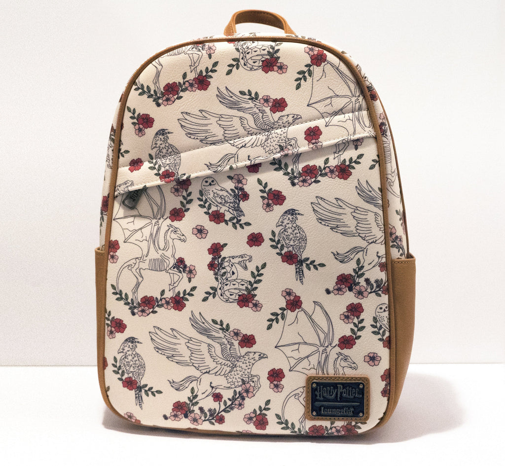 LOUNGEFLY Harry Potter Creatures Floral Backpack