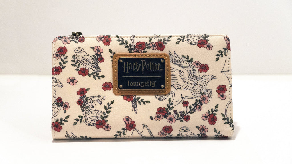 LOUNGEFLY Harry Potter Floral Flap Wallet