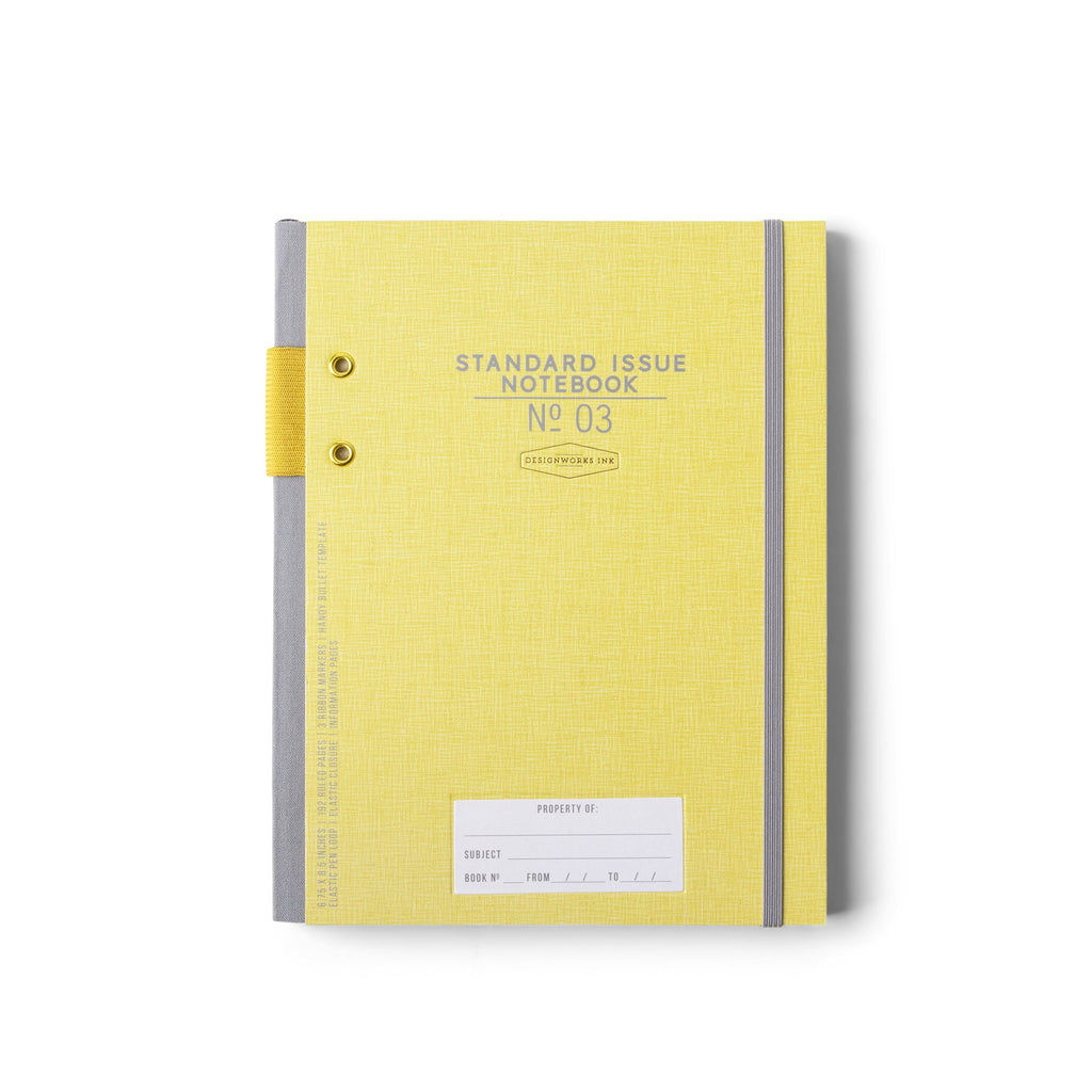DESIGNWORKS INK - Standard Issue Large Notebook No. 3 - Ochre