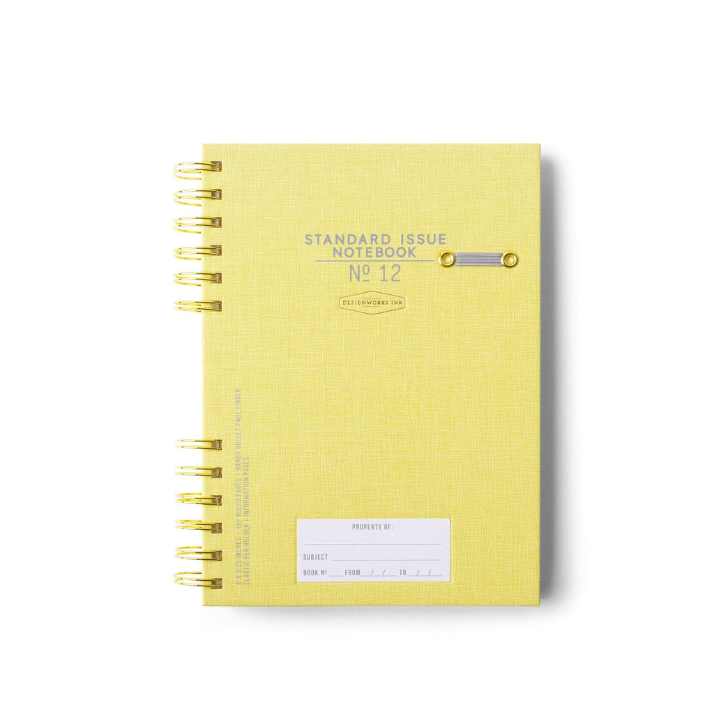 DESIGNWORKS INK - Standard Issue Notebook No. 12 - Ochre
