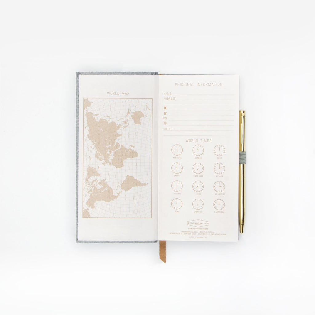 "DESIGN WORKS Skinny Journal With Pen ""Tall Tales"""