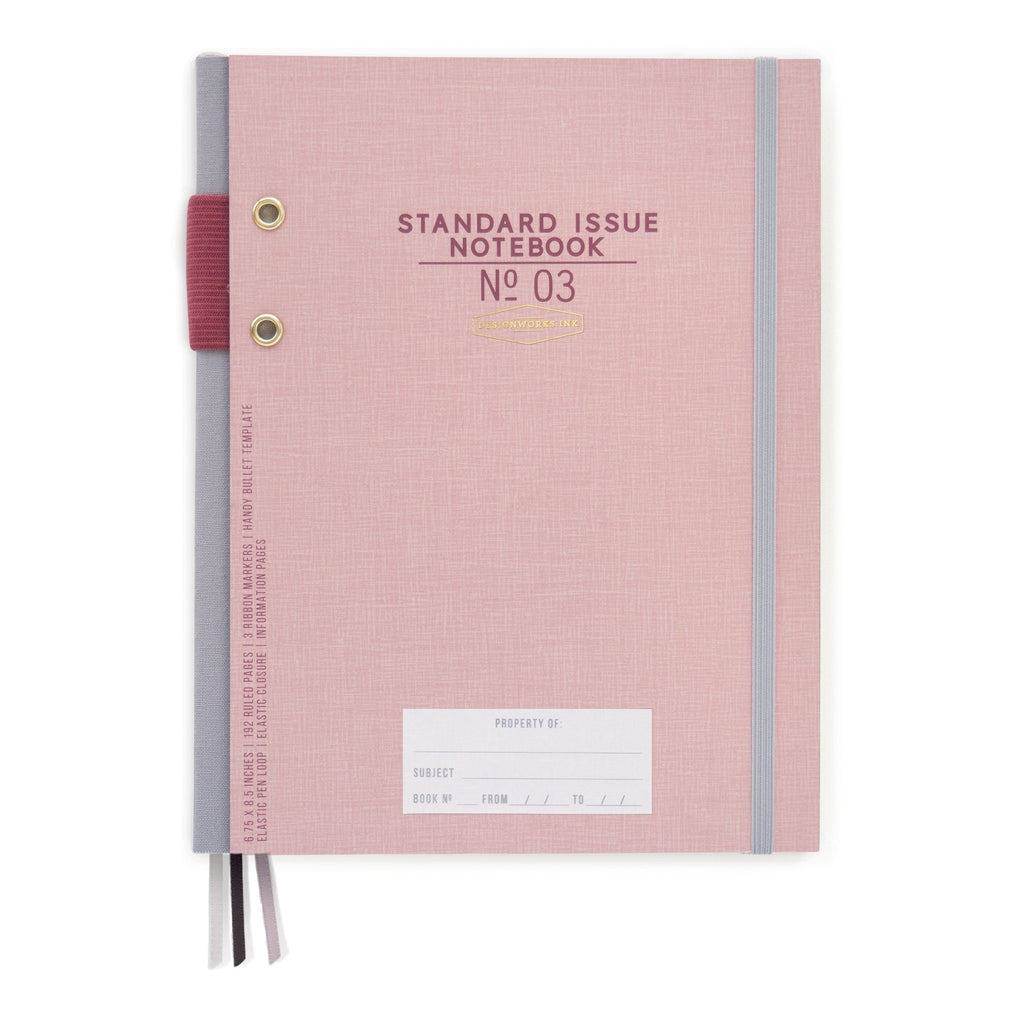 DESIGNWORKS INK - Standard Issue Large Notebook No. 3 - Dusty Pink