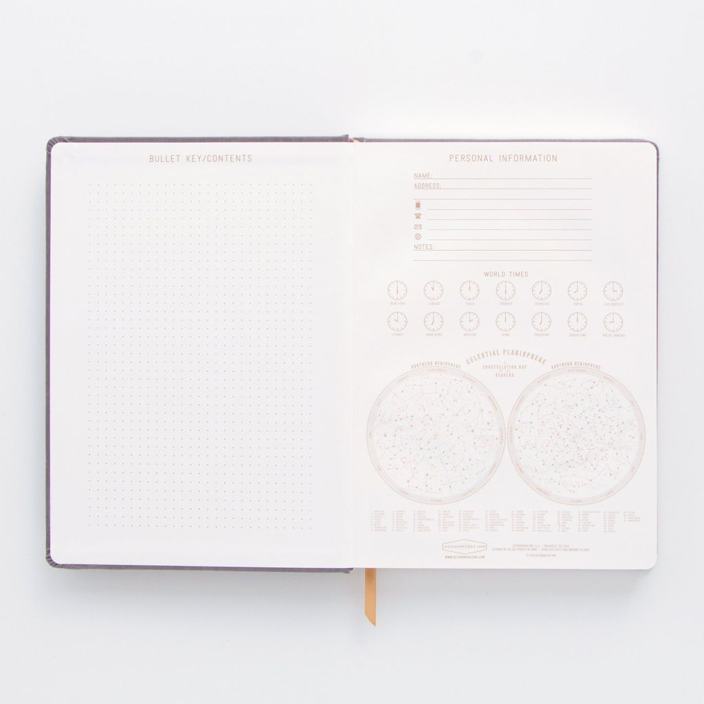 "DESIGNWORKS ""The World Is A Book"" Suede Journal"