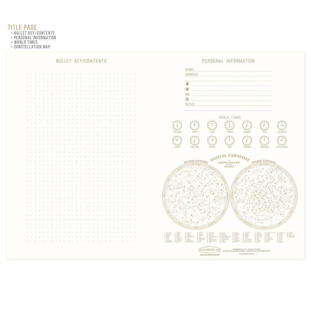 "DESIGNWORKS ""Live By The Sun-Love By The Moon"" Suede Cloth Journal"