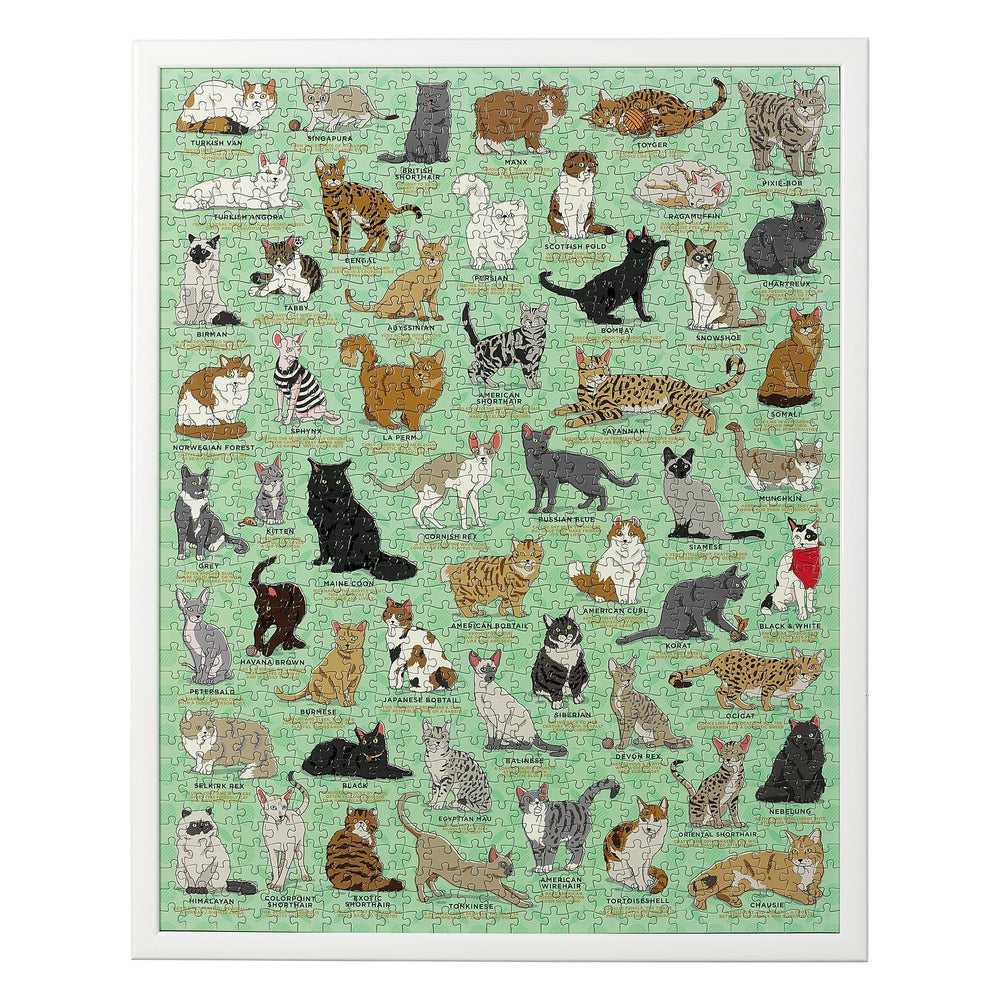WILD + WOLF Ridley's Cat Lover's 1000-Piece Jigsaw Puzzle