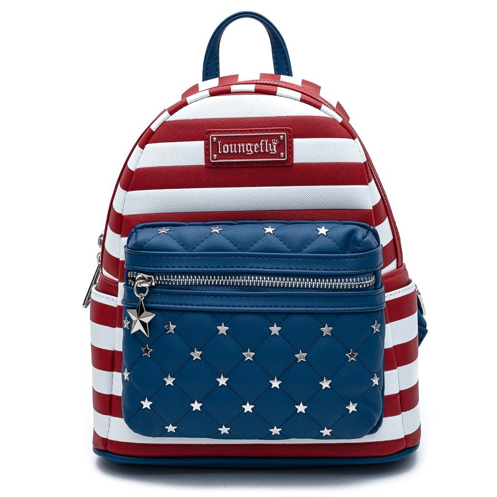 LOUNGEFLY x AMERICANA Quilted Mini Backpack