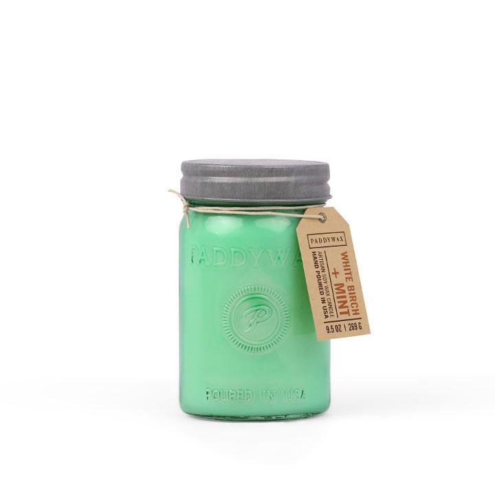 PADDYWAX Relish Jar Candle- White Birch + Mint