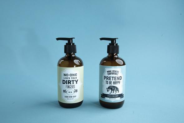 WHISKEY RIVER SOAP CO - Pretend To Be Happy Liquid Soap