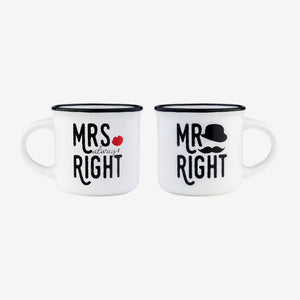 Mr & Mrs - Espresso for 2 Mugs
