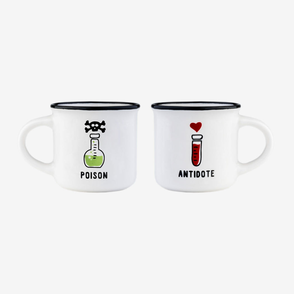 LEGAMI Poison / Antidote - Espresso for 2 Mugs