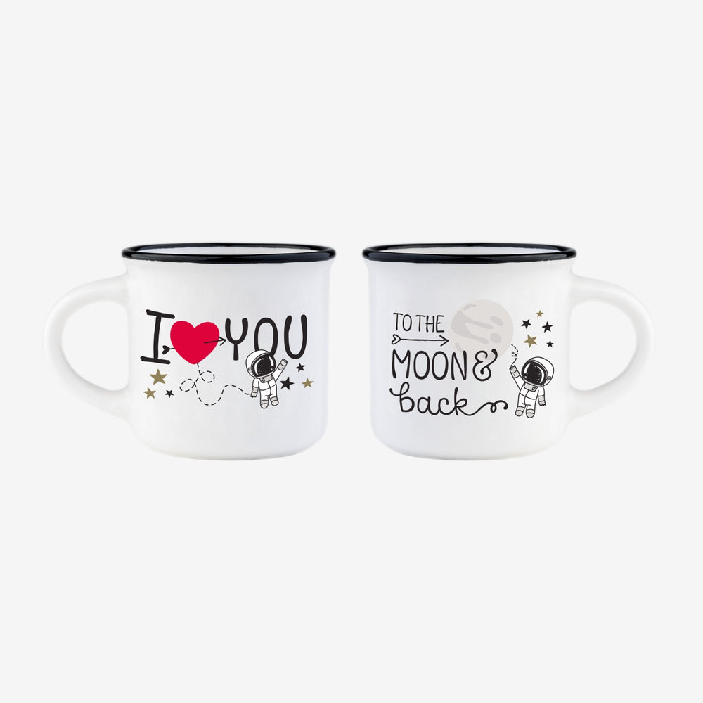 LEGAMI To The Moon & Back - Espresso for 2 Mugs
