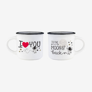 To The Moon & Back - Espresso for 2 Mugs