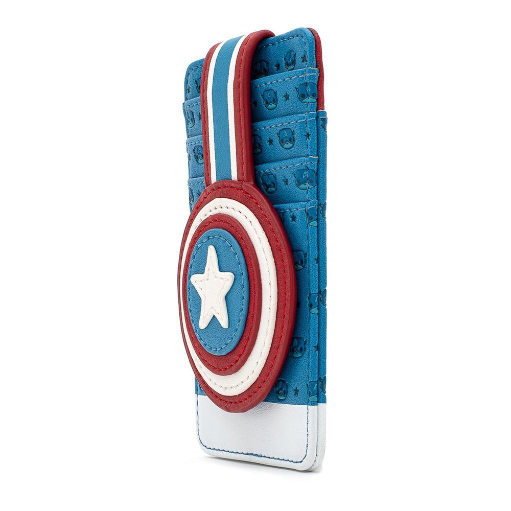 LOUNGEFLY Marvel Captain America Debossed Shield Cardholder