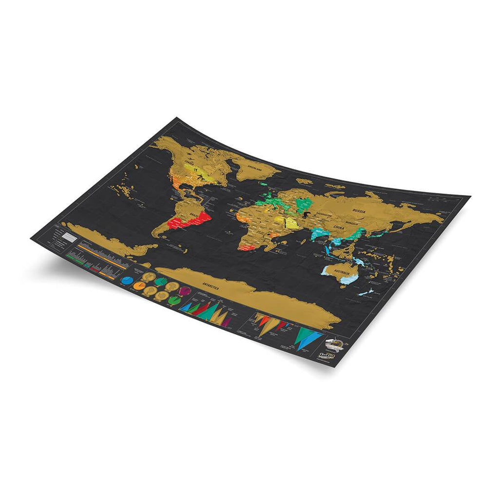LUCKIES Scratch Map® Travel Deluxe