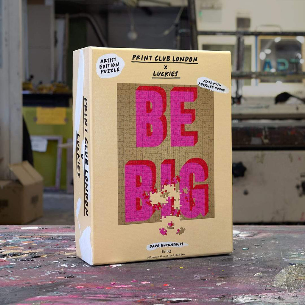 LUCKIES x Print Club London - Be Big Puzzle