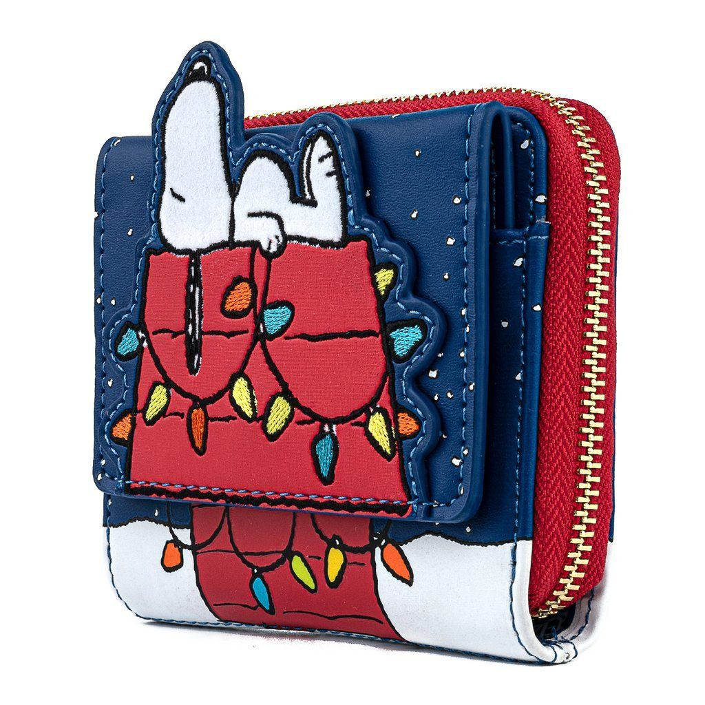 LOUNGEFLY x PEANUTS Holiday Snoopy House Wallet