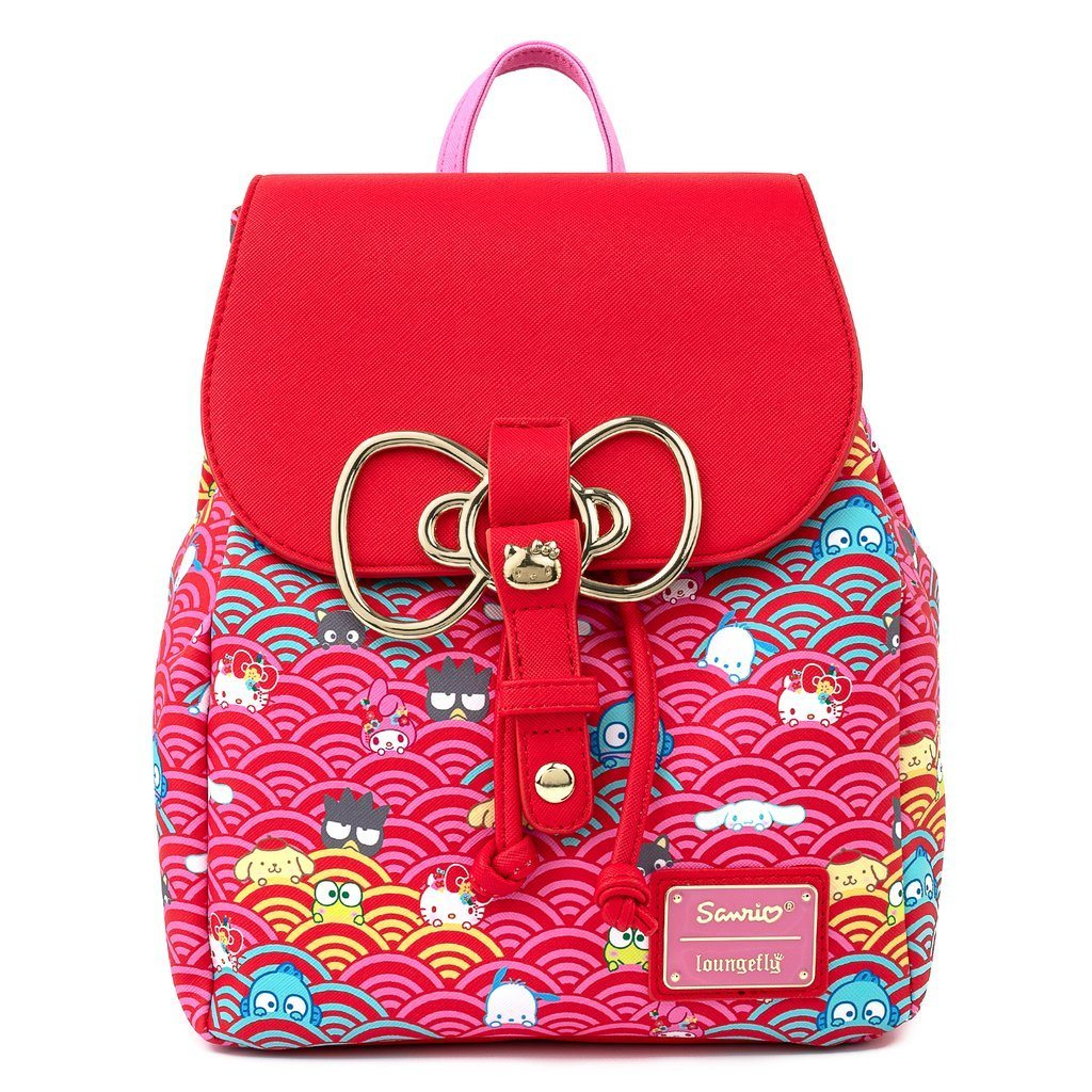 LOUNGEFLY x SANRIO 60th Anniversary Gold Bow Mini Backpack