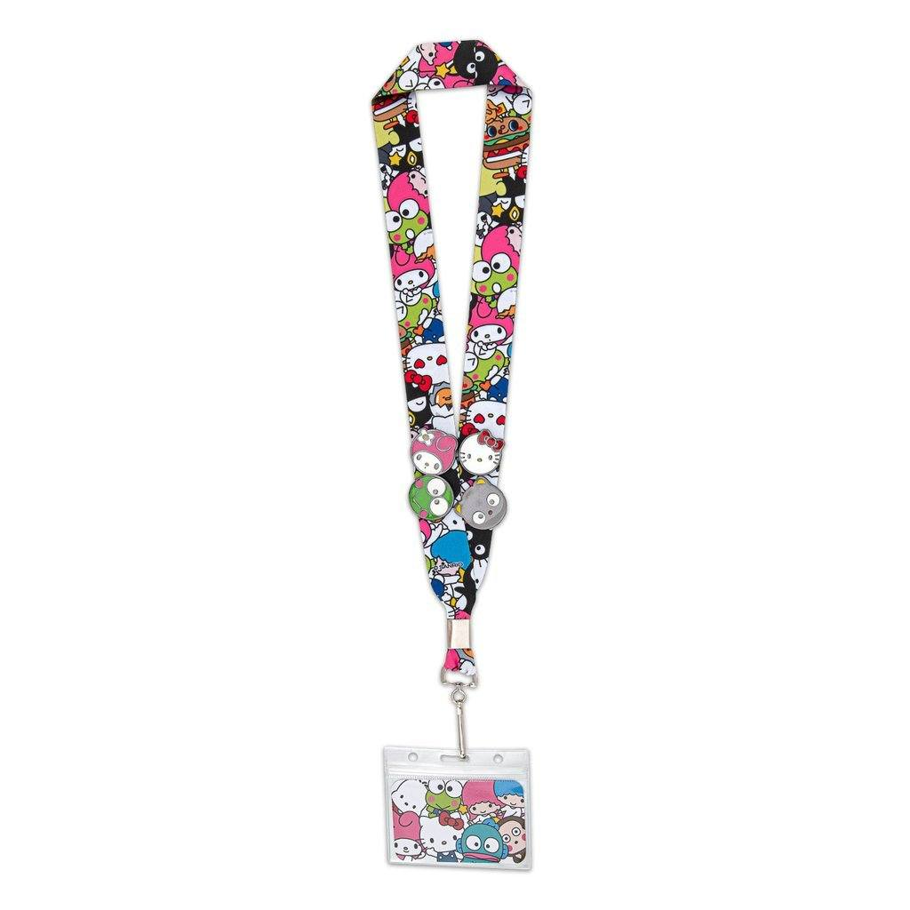 LOUNGEFLY X Sanrio Lanyard with 4 pins
