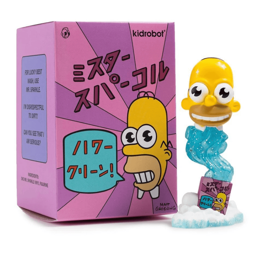 "KIDROBOT x The Simpsons Mr Sparkle 3"" Figure"