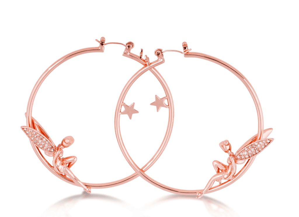 COUTURE KINGDOM x Disney Tinkerbell Hoop Earrings w/Pave Wings