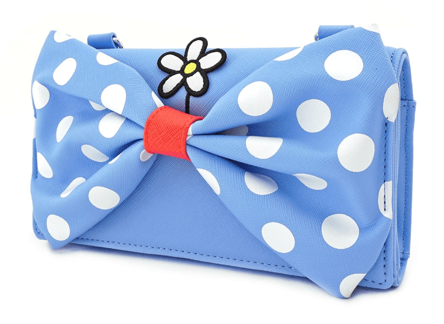 LOUNGEFLY x Positively Minnie Polka Dot Cross Body Wristlet