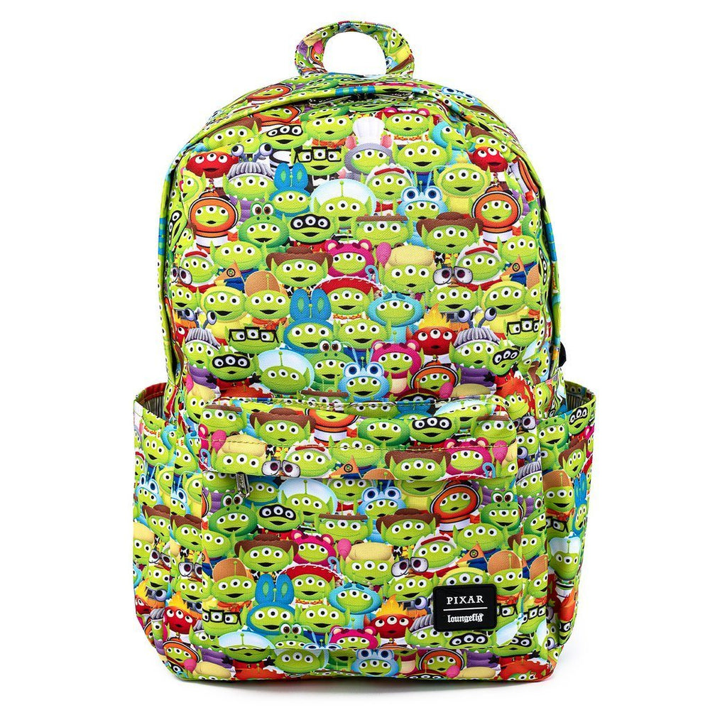 LOUNGEFLY x PIXAR Toy Story Alien Outfits AOP Nylon Backpack