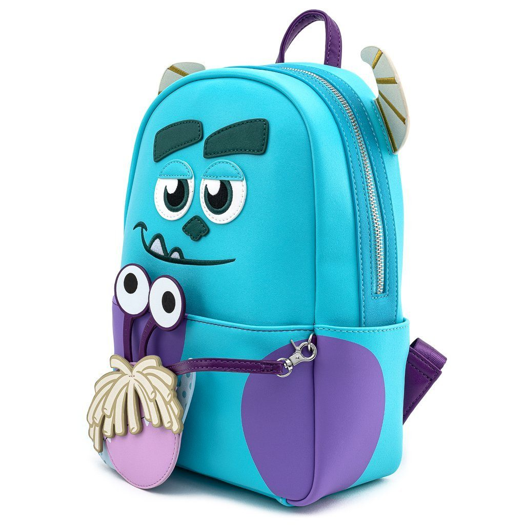 LOUNGEFLY x PIXAR Monsters Inc. Sully Mini Backpack With Boo Coin Purse