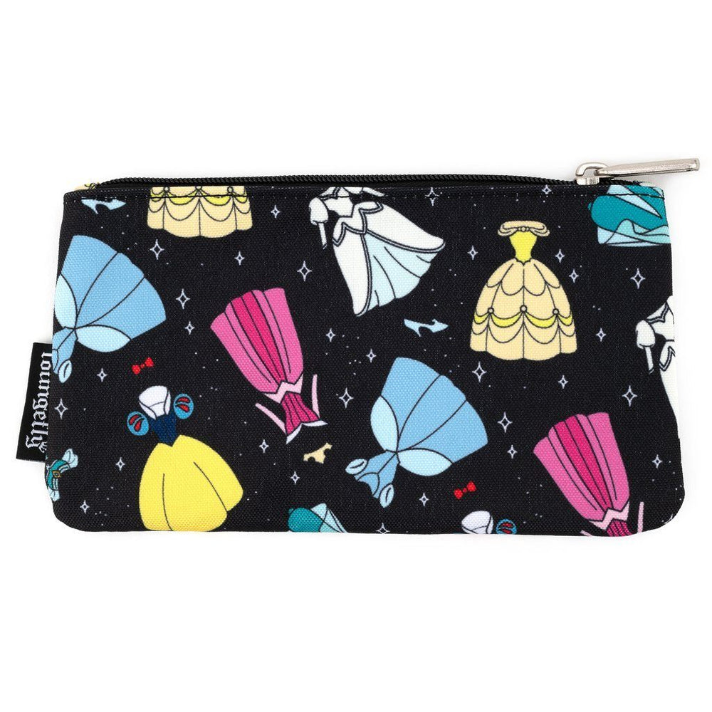 LOUNGEFLY Disney Princess Dresses Pouch