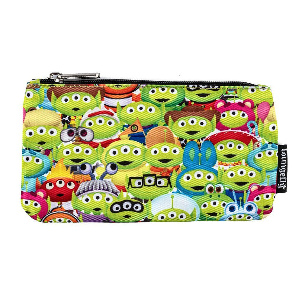 LOUNGEFLY x PIXAR Toy Story Alien Outfits AOP Nylon Pouch