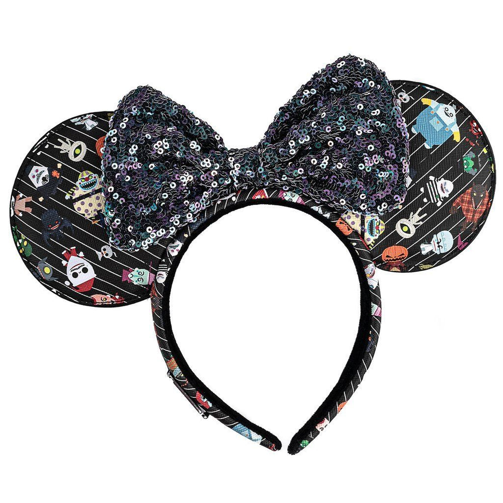 LOUNGEFLY x DISNEY Nightmare Before Christmas AOP Chibi Ears Headband