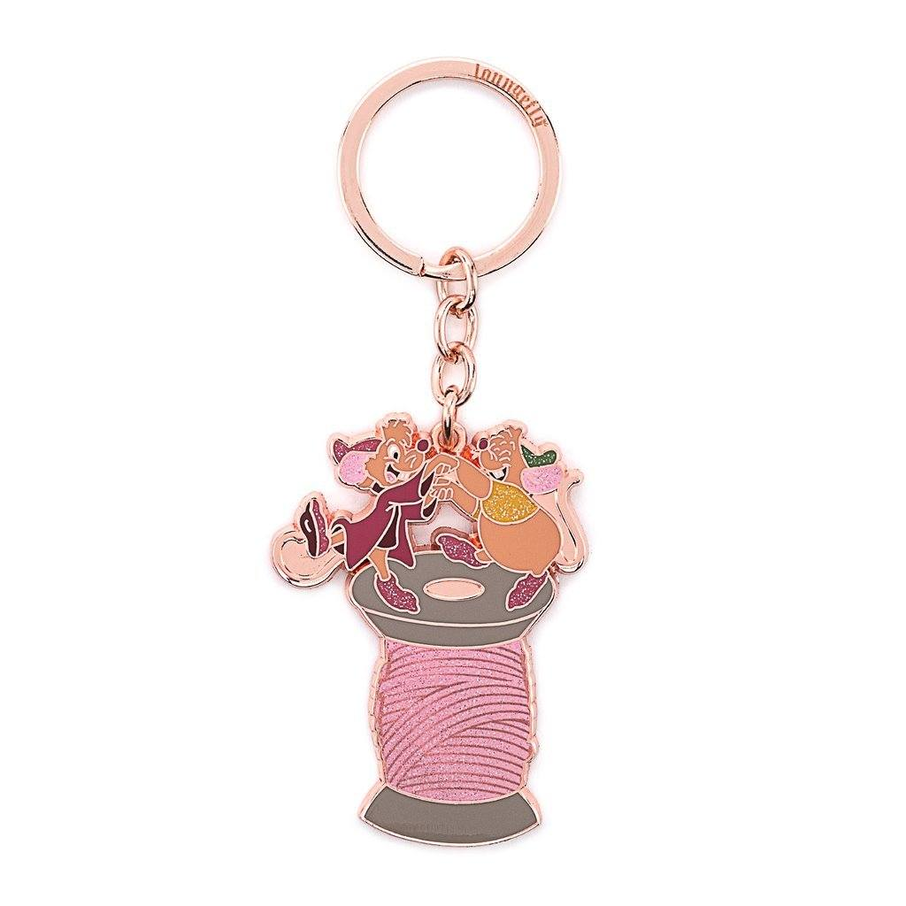 LOUNGEFLY Disney Jaq and Gus Gus Enamel Keychain