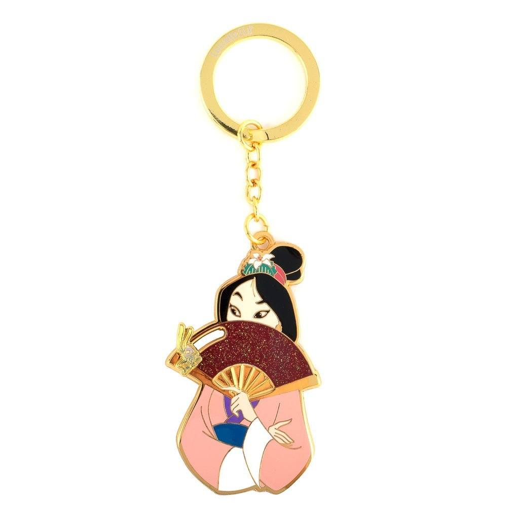 LOUNGEFLY Disney Mulan Fan Keychain