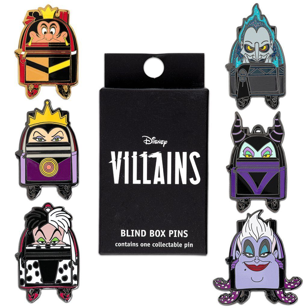 LOUNGEFLY Disney Villains Backpack Blind Box Pin