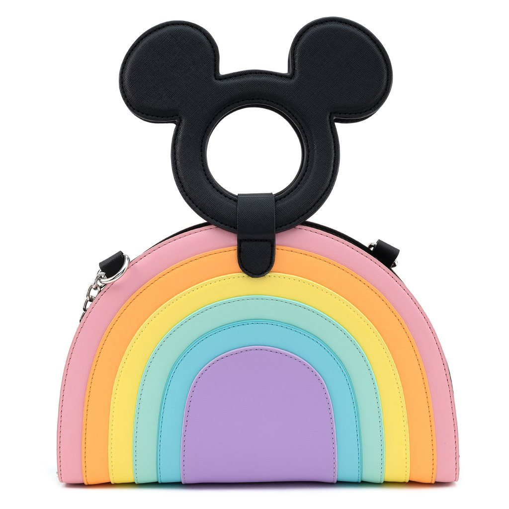 LOUNGEFLY x DISNEY Mickey Mouse Rainbow Crossbody