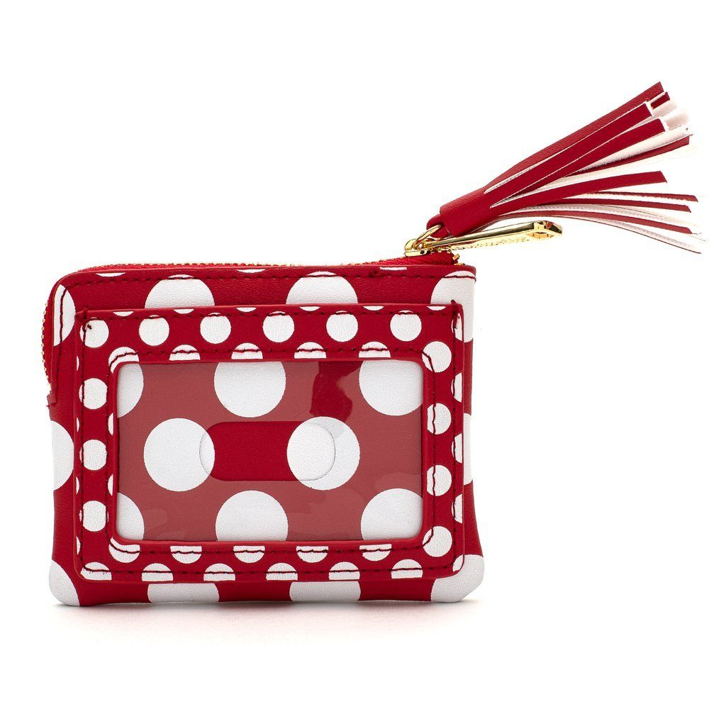 LOUNGEFLY x Disney Red & White Polka Dot Logo Cardholder
