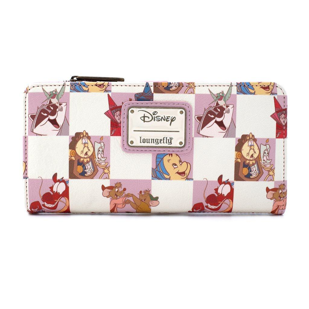 LOUNGEFLY x DISNEY Princess Sidekicks Wallet Rose