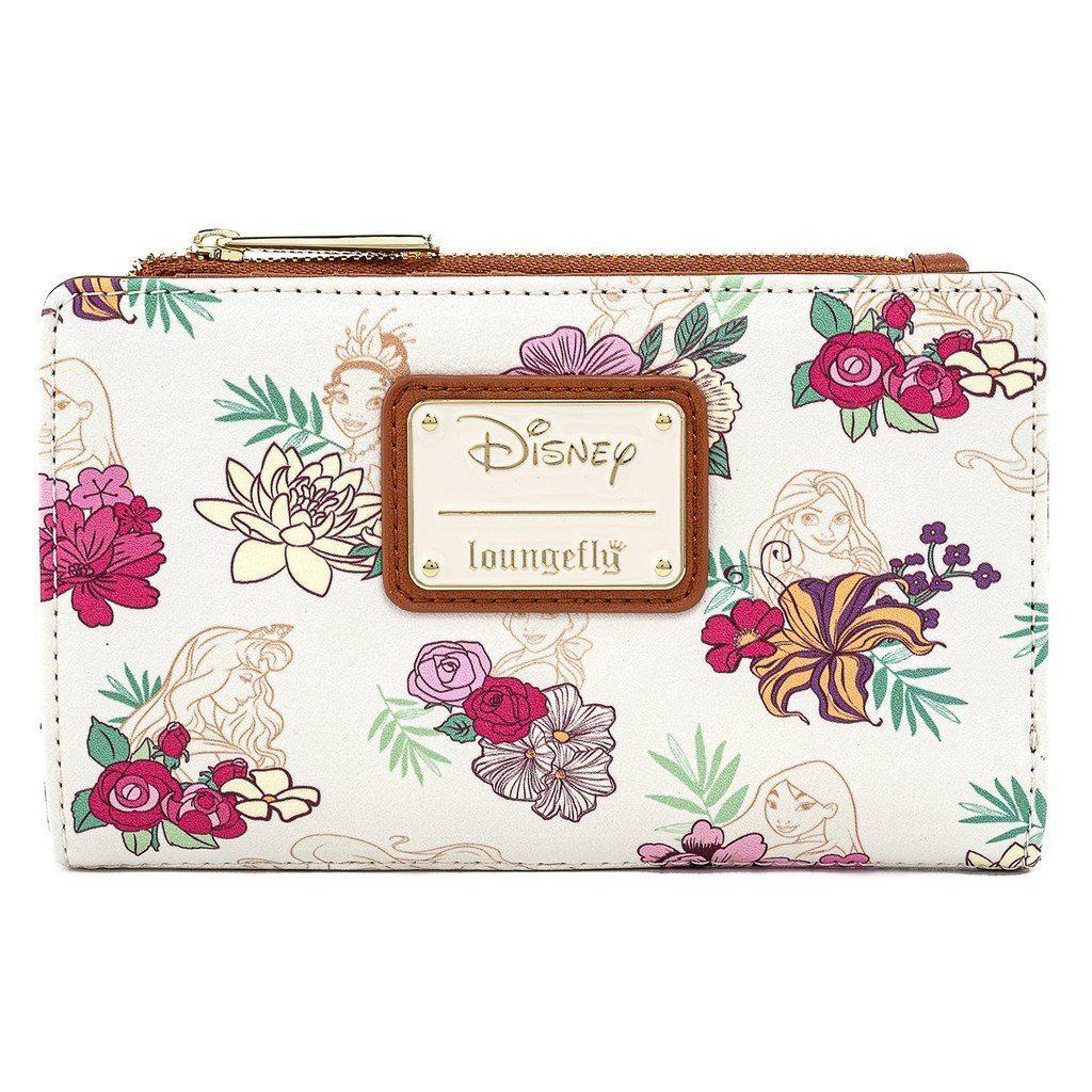 LOUNGEFLY x DISNEY Princess Floral Wallet
