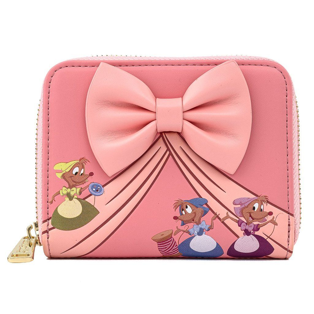 COMING SOON! LOUNGEFLY x DISNEY Cinderella 70th Anniversary Bow Zip Around Wallet