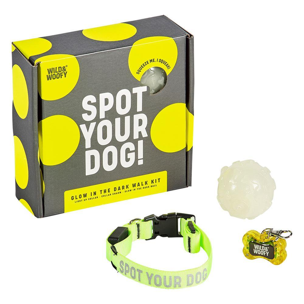 WILD + WOLF Wild & Wolfy Spot Your Dog Glow in the Dark Walk Kit